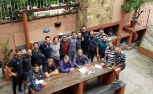 Integrantes de los Staffs de los cuatro Seleccionados compartieron un almuerzo de camaradería en el día libre